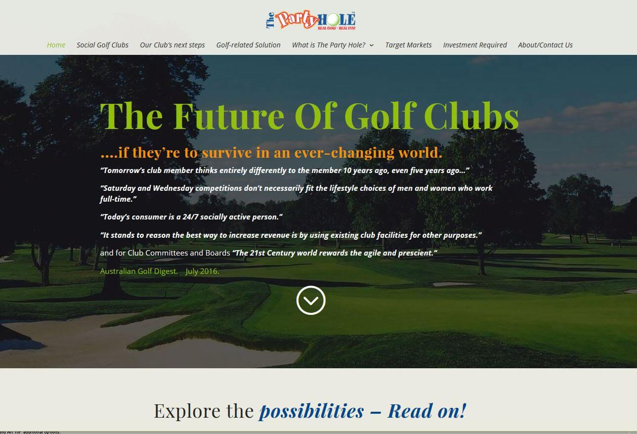 website for The Future Of Golf Clubs