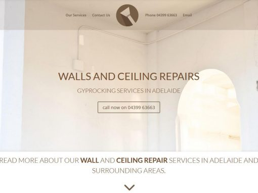 Website design for Walls and Ceiling repairs