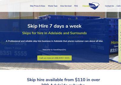 Website for Handiskip SA in Adelaide