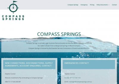 Landing Page Website for Compass Springs