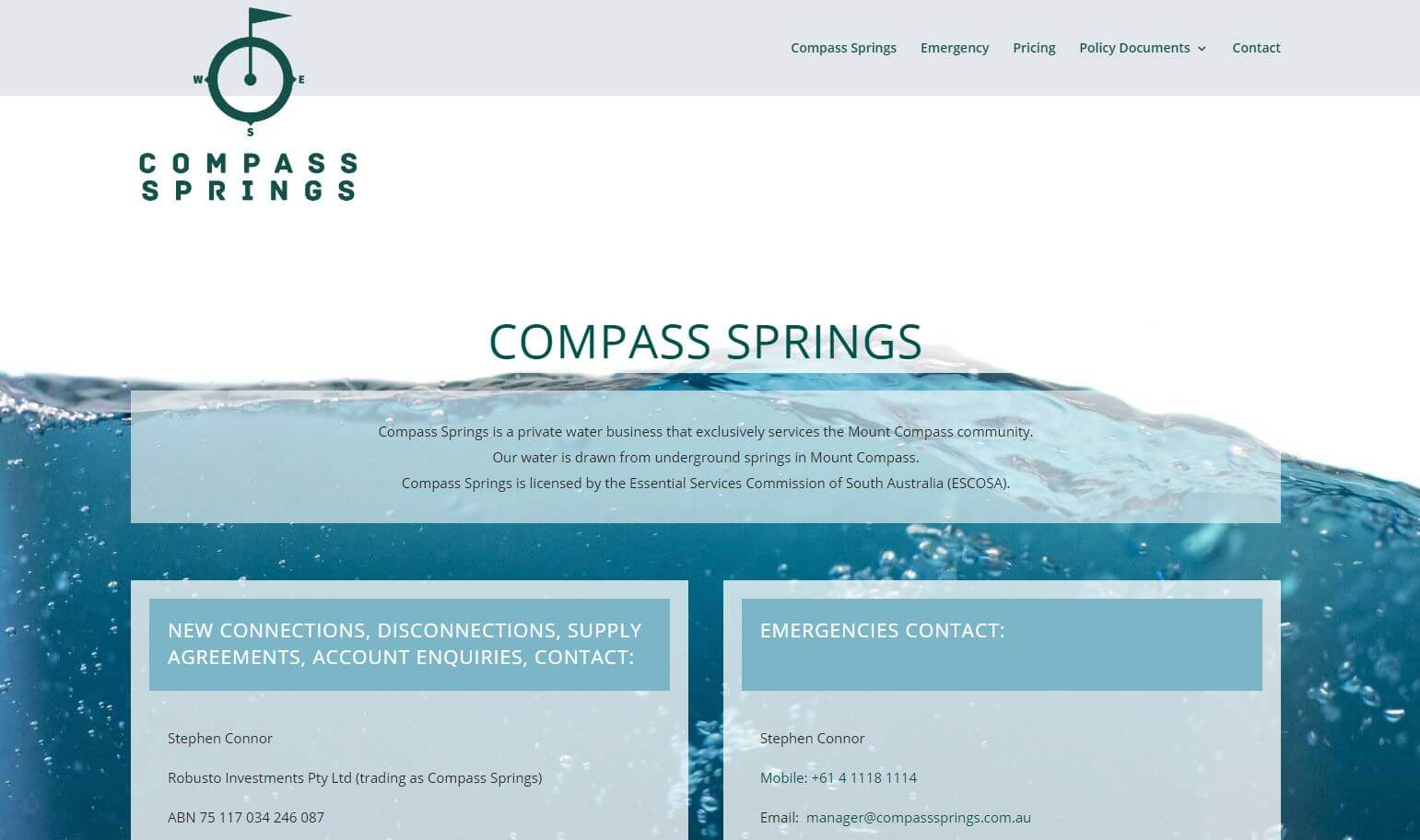 website for compass springs south australia