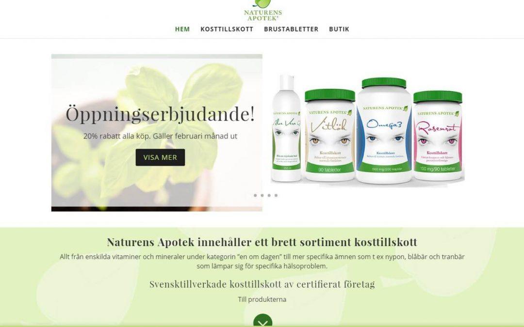 Website for Naturens Apotek