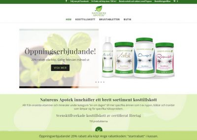 Website for Naturens Apotek