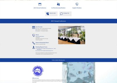Website for Packaged Ice Association