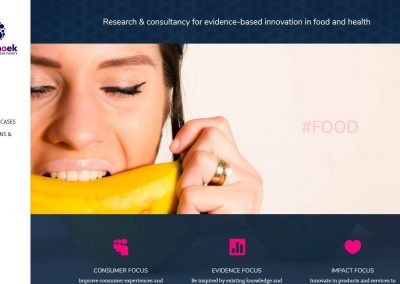 Website for Annet Hoek research & consultancy