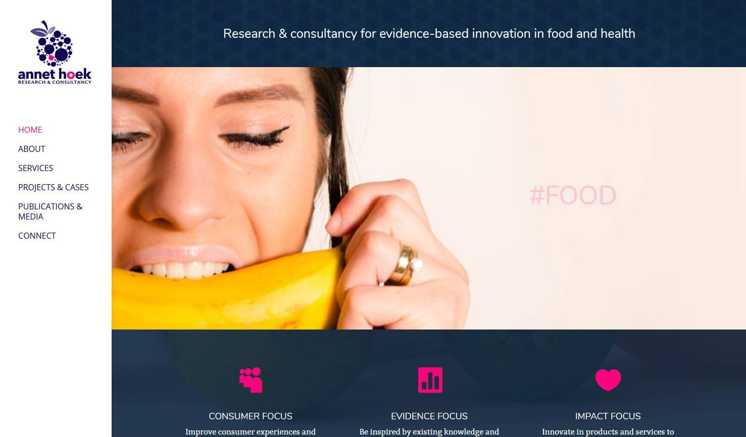 website design food research