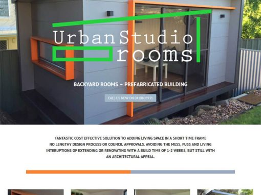 Urban Studio Rooms website design
