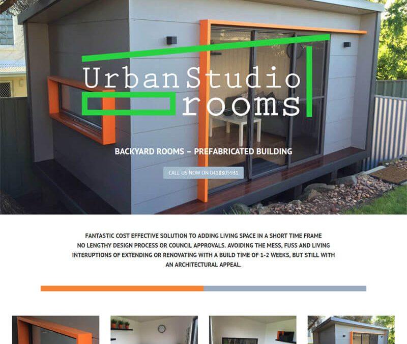 Urban Studio Rooms website design
