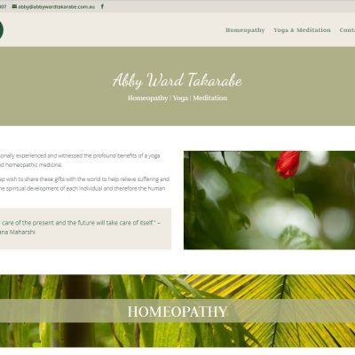 Website design for Homeopathy