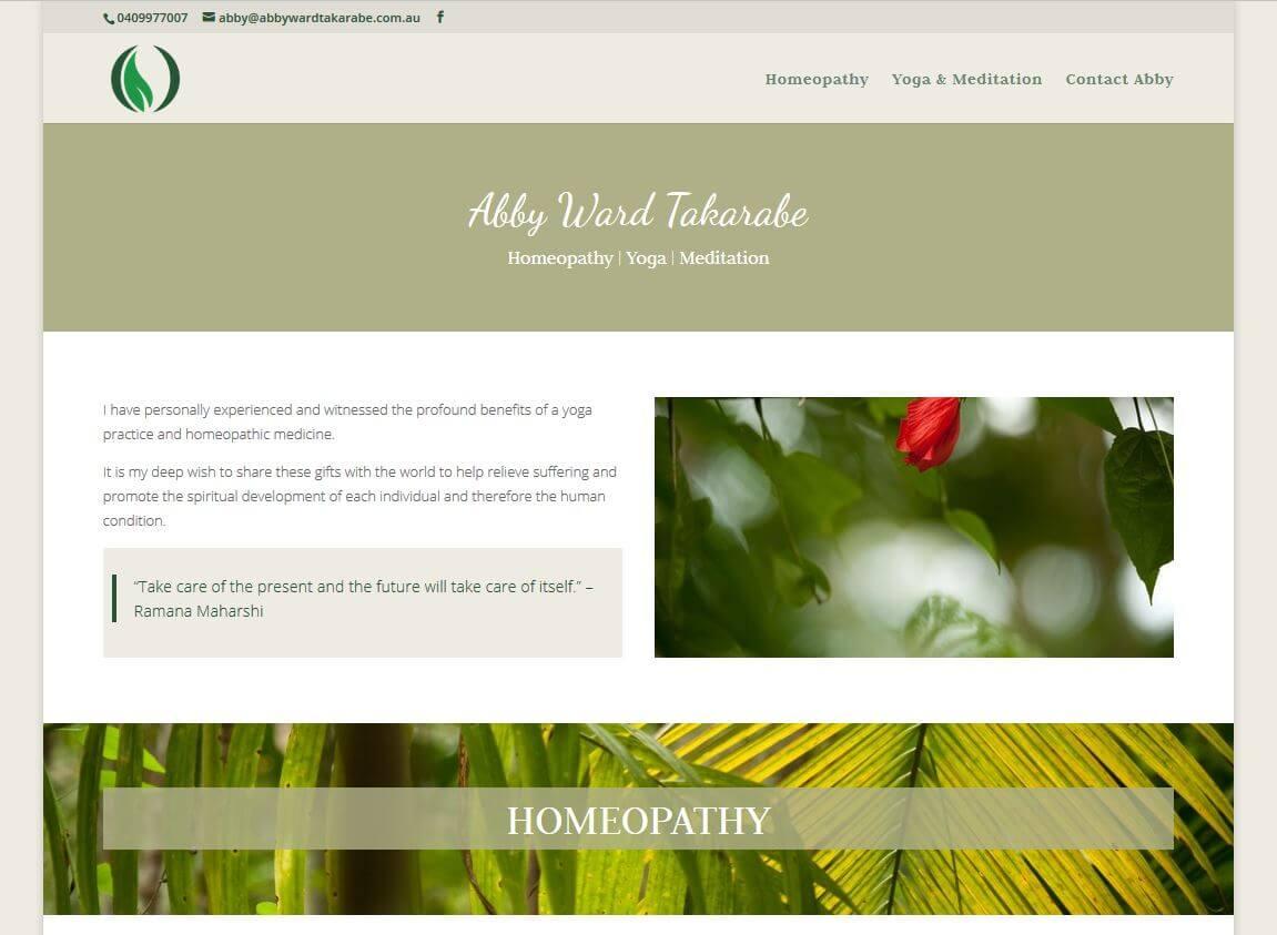 website for abby ward takarabe in adelaide