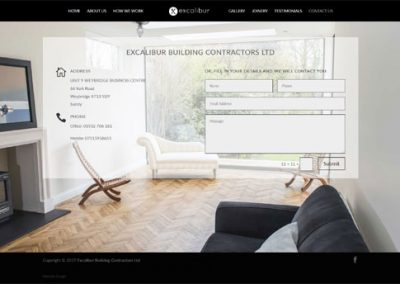 Website design for a builder