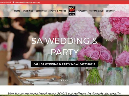 Website Design for SA Wedding and Party Entertainment