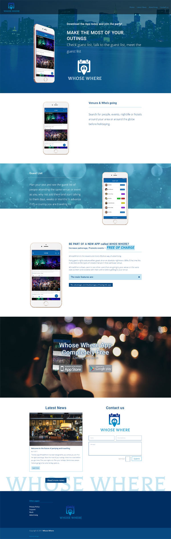 website design in Adelaide for whosewhere
