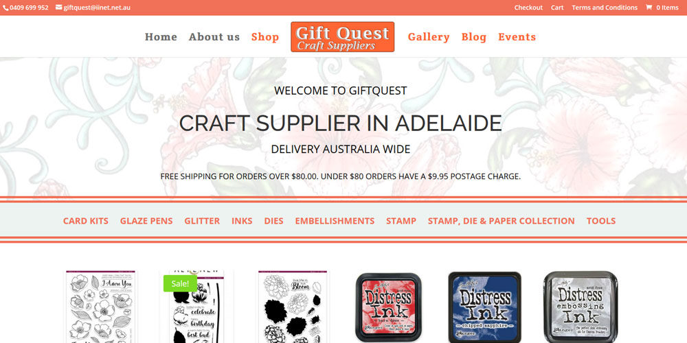 Ecommerce website for Gift Quest
