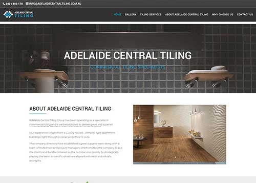 Website design for Adelaide Central Tiling