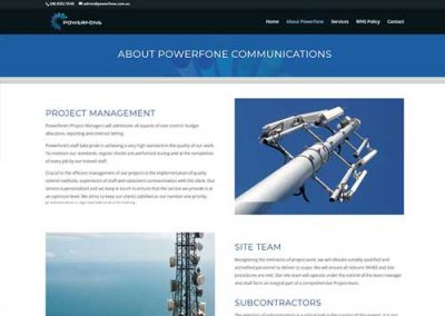 Powerfone Website Design