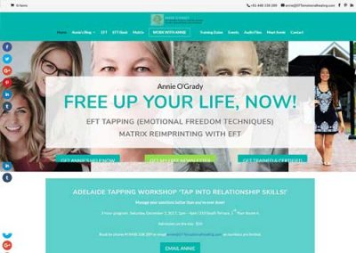 EFT Tapping Coach Website Design