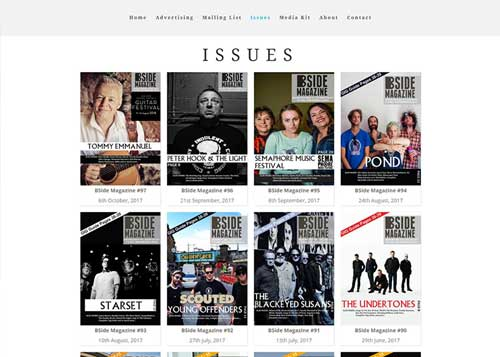 BSide Magazine Website Design