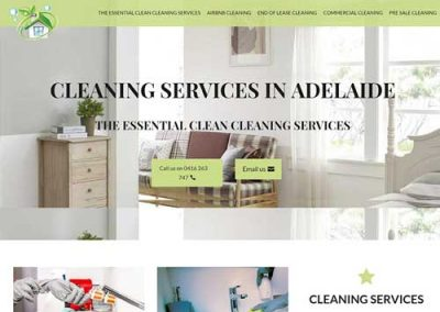 Cleaning services Website Design in Adelaide