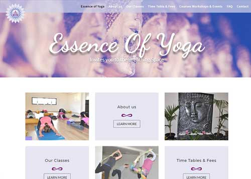 Essence of Yoga Website Design