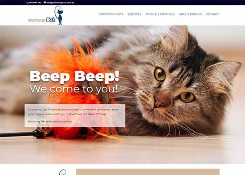 Grooming Cats Website Design
