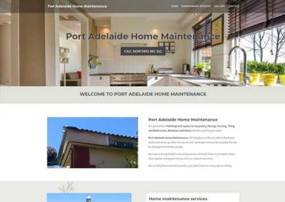 Port Adelaide Home Maintenance Website