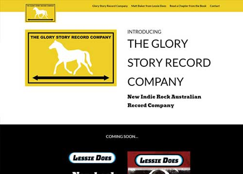 The Glory Story Record Co Website Design