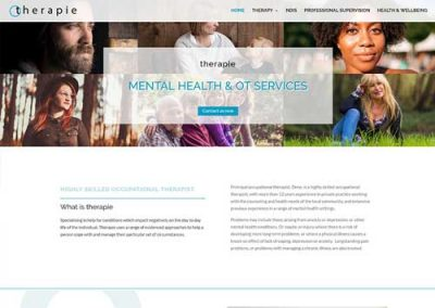 Therapie Website Design