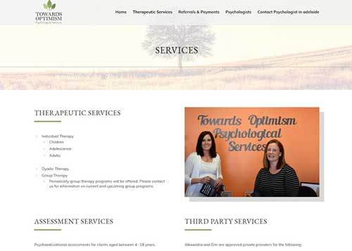 Towards Optimism Website Design