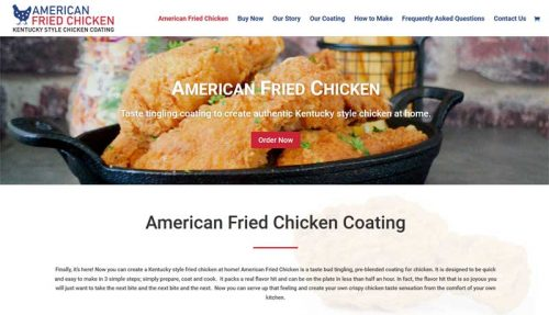 website for american fried chicken by website adelaide