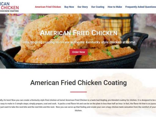 Ecommerce website for American Fried Chicken Coating
