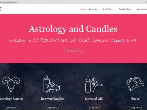 Ecommerce website with Astrology & Candles