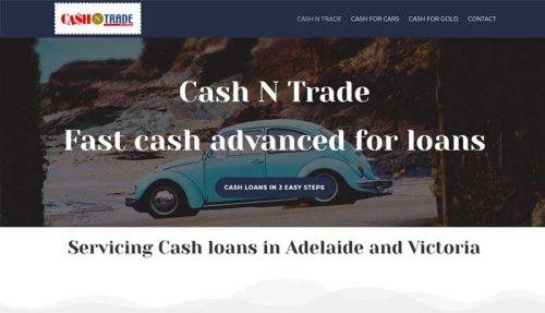 website design for cash n trade in Adelaide