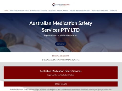 Website design for Australian Medication Safety Services