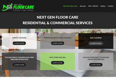 Website for Next Gen Floor Care