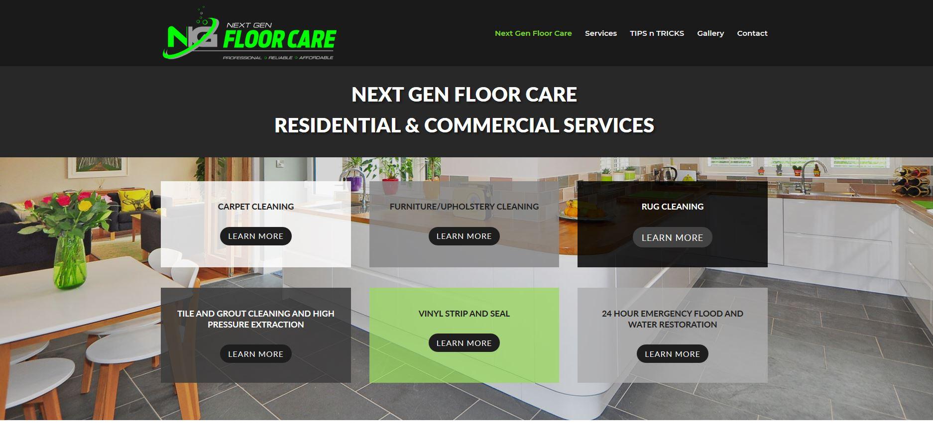 Website for Next Gen Floor Care