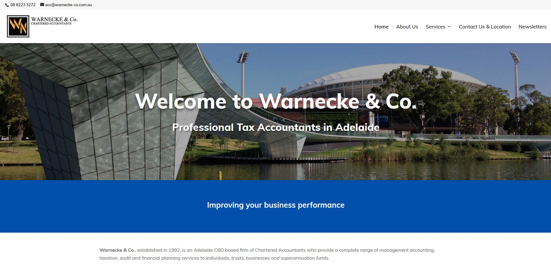 Website for Accountant firm in Adelaide