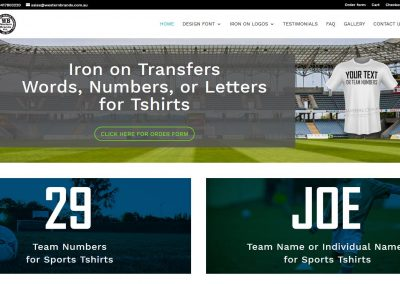 Ecommerce website for Iron on Transfers
