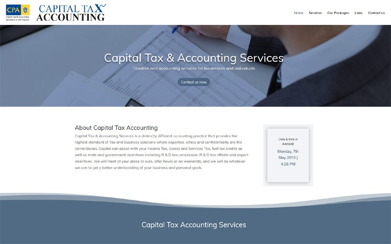 Website for Capital Tax & Accounting Services
