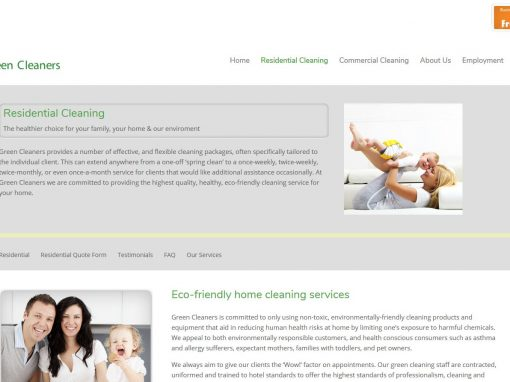 Website build for Green Cleaners