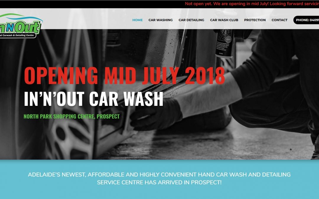 Website for car wash services In'n'out