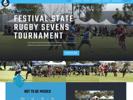 Website for Festival State Rugby Sevens Tournament