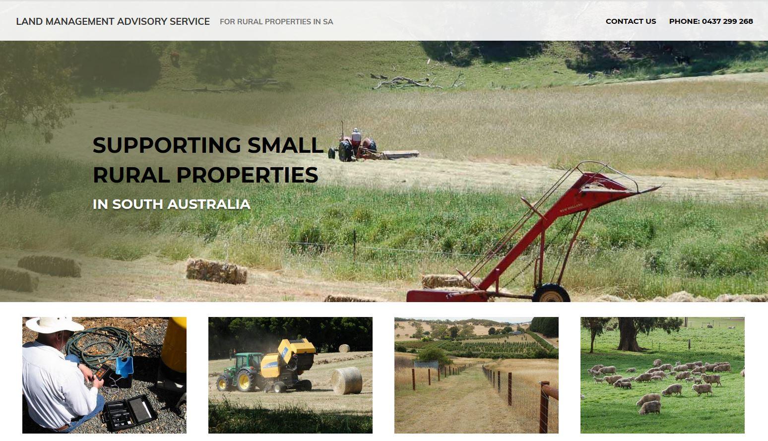 Website for Land Management Advisory Service