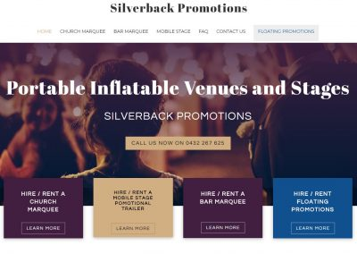 Website design for Silverback Promotions