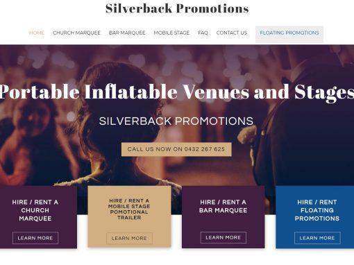 Website design for Silverback Promotions