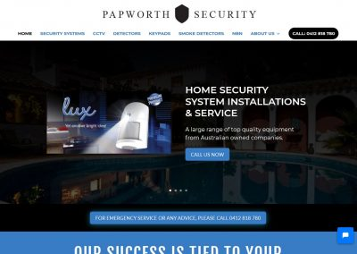 Website design for Papworth Security