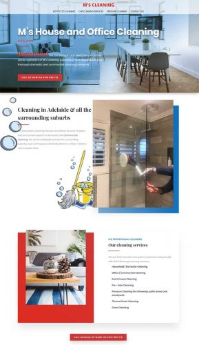 website for cleaning services in adelaide