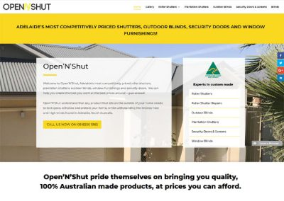 Website design for OpenNShut