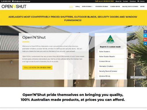 Website design for OpenNShut