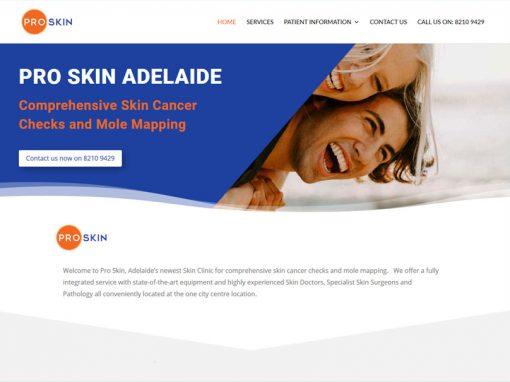 Pro skin in Adelaide – website design